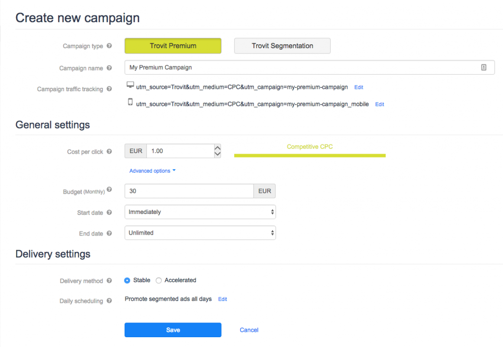Create, manage and optimise ad campaigns